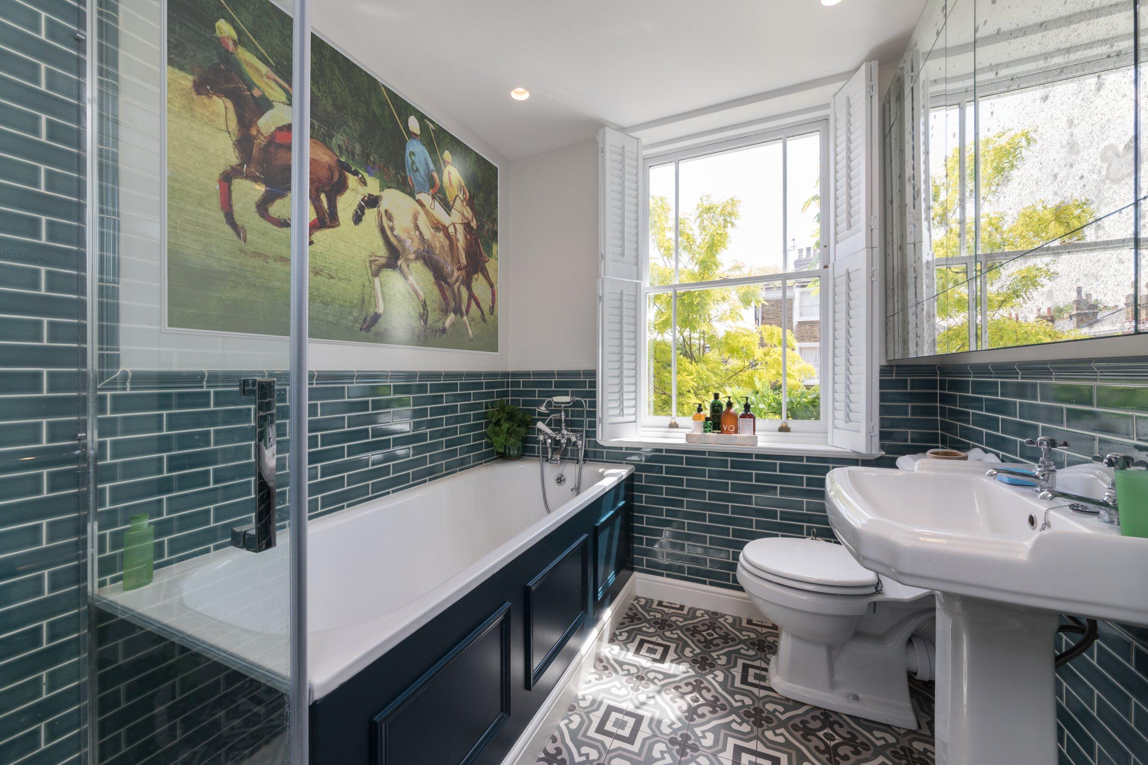Richmond green bathroom design