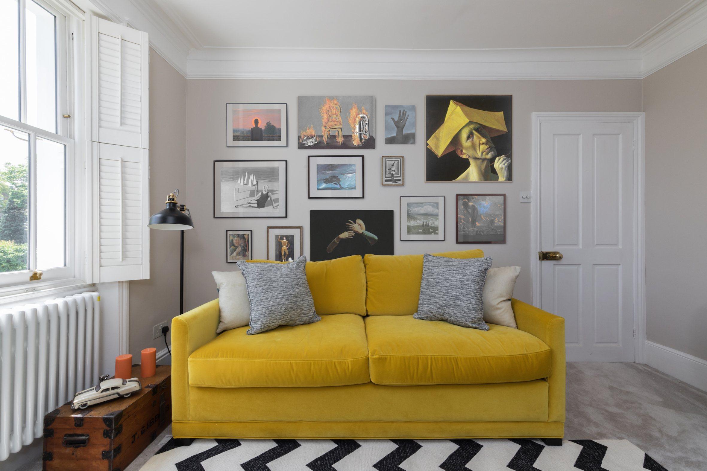 Richmond yellow sofa