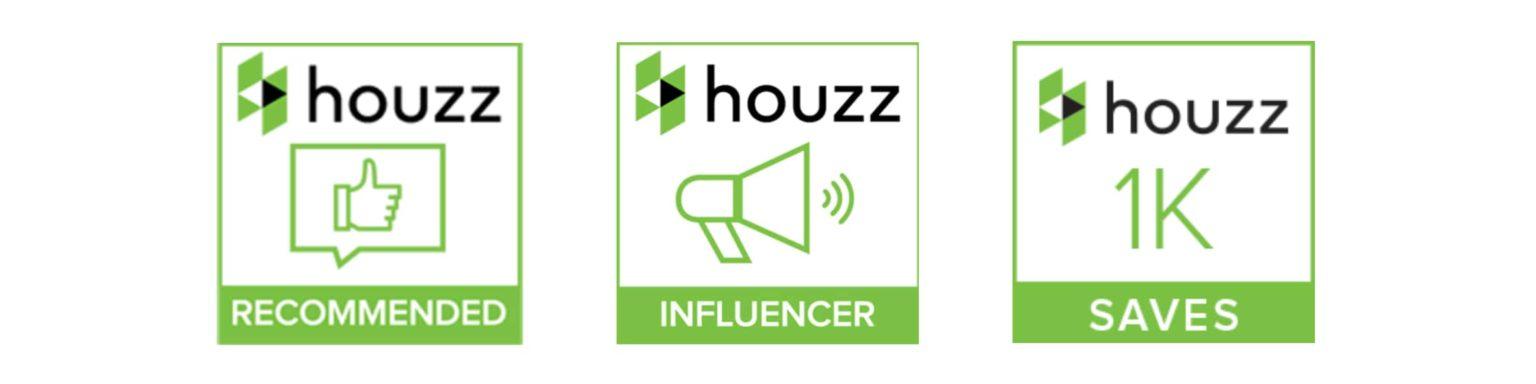 Houzz recommendation badges