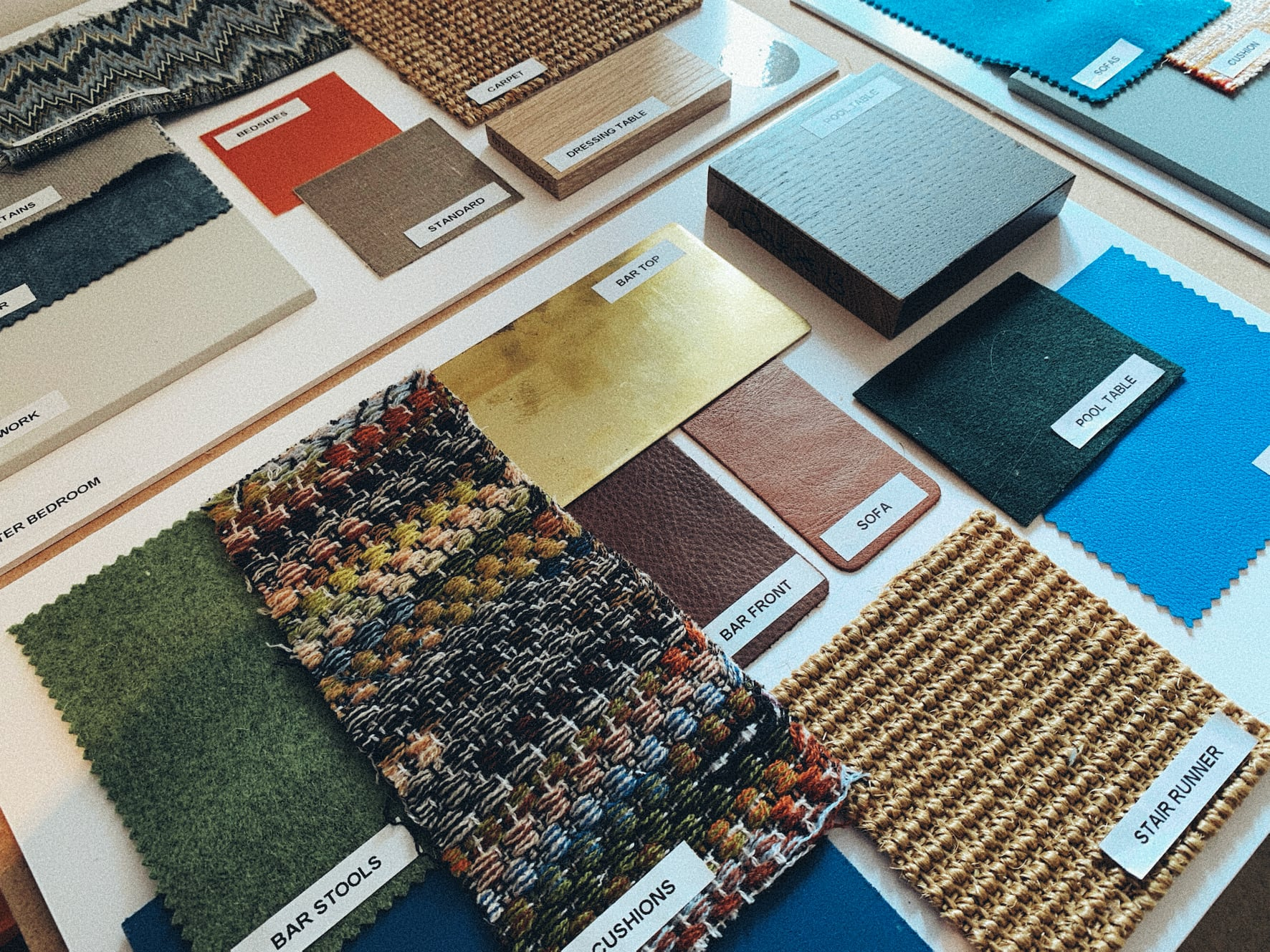 interior design sample boards