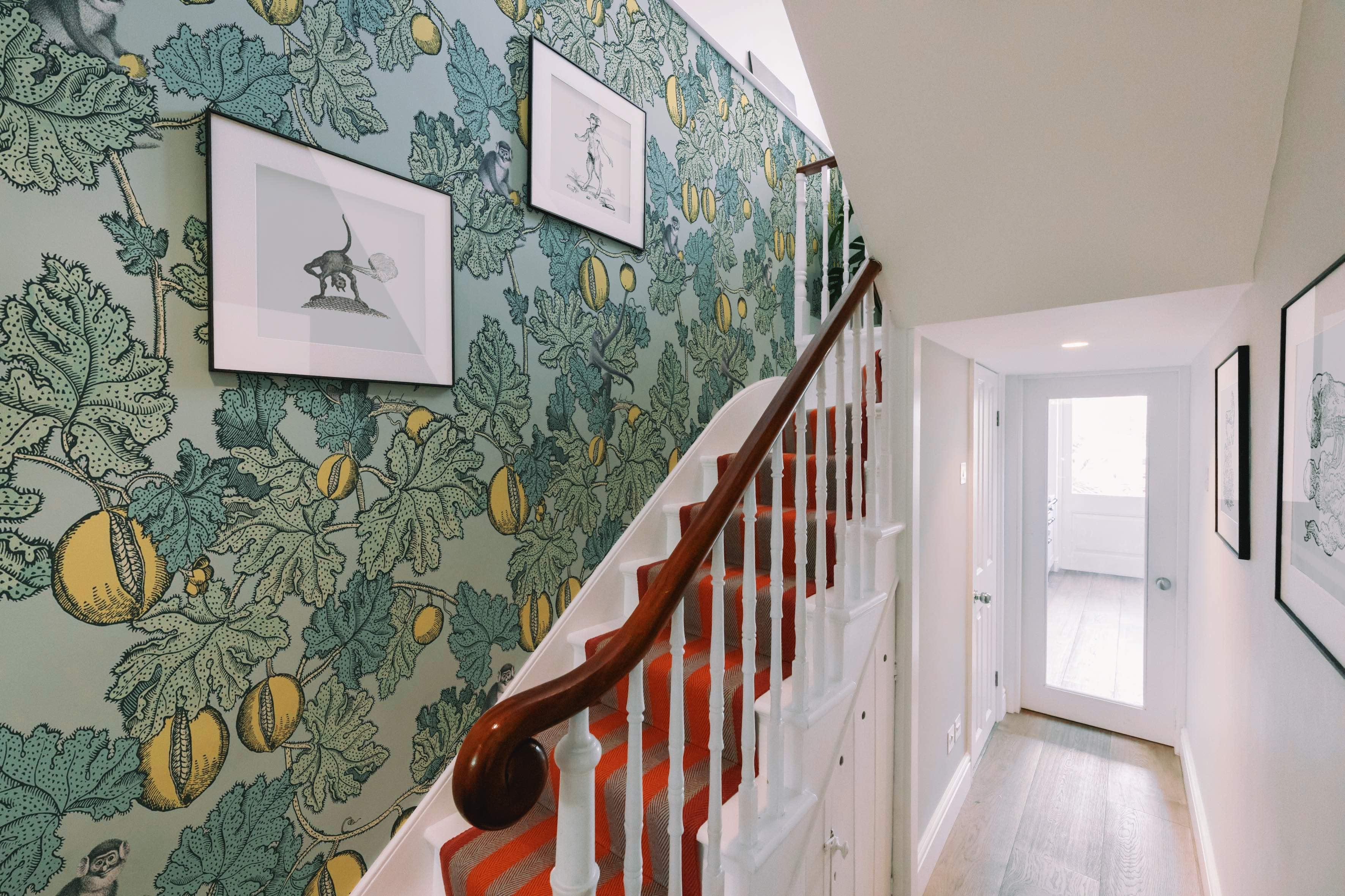 Interior designer Chiswick green staircase