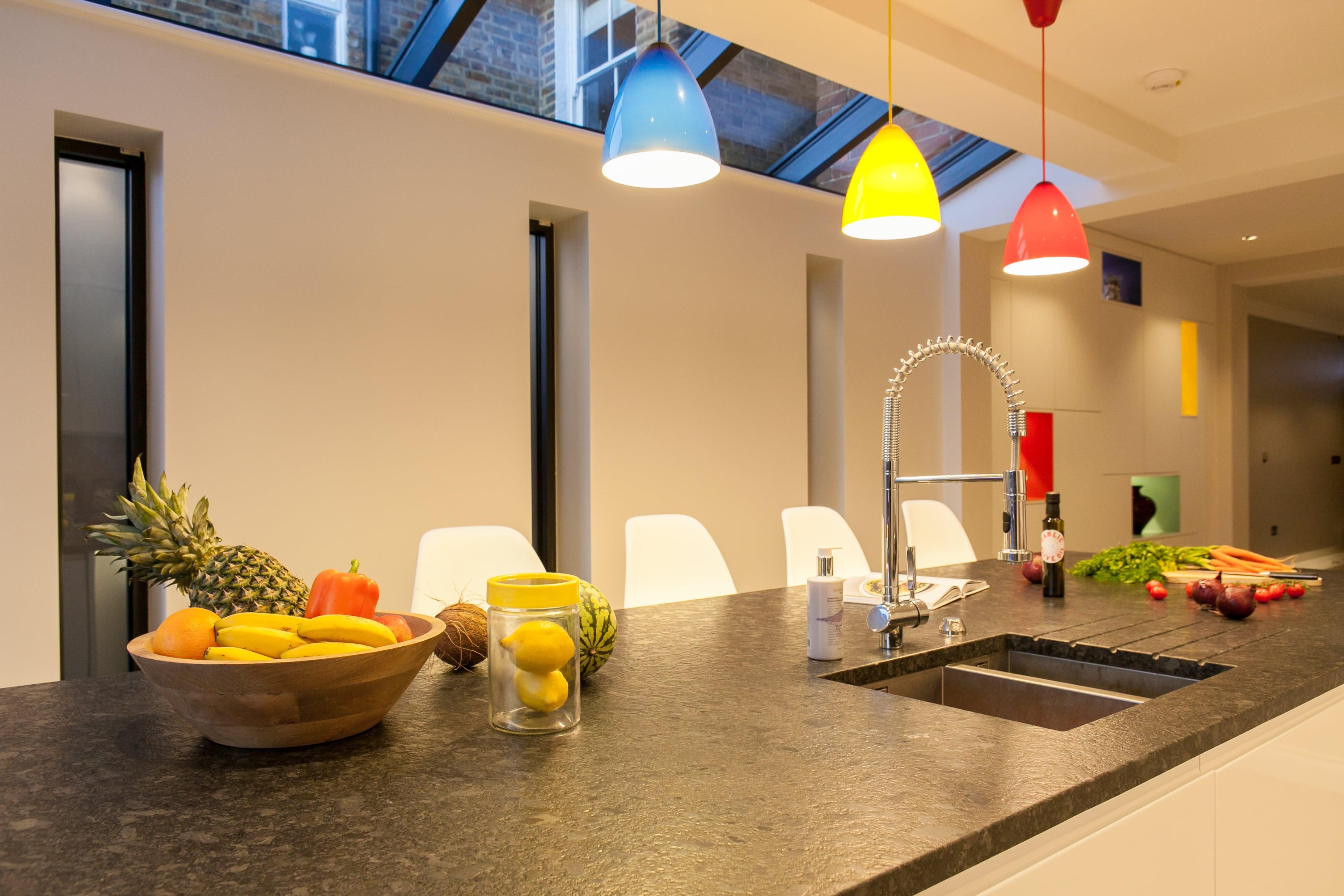Surrey kitchen design multicoloured
