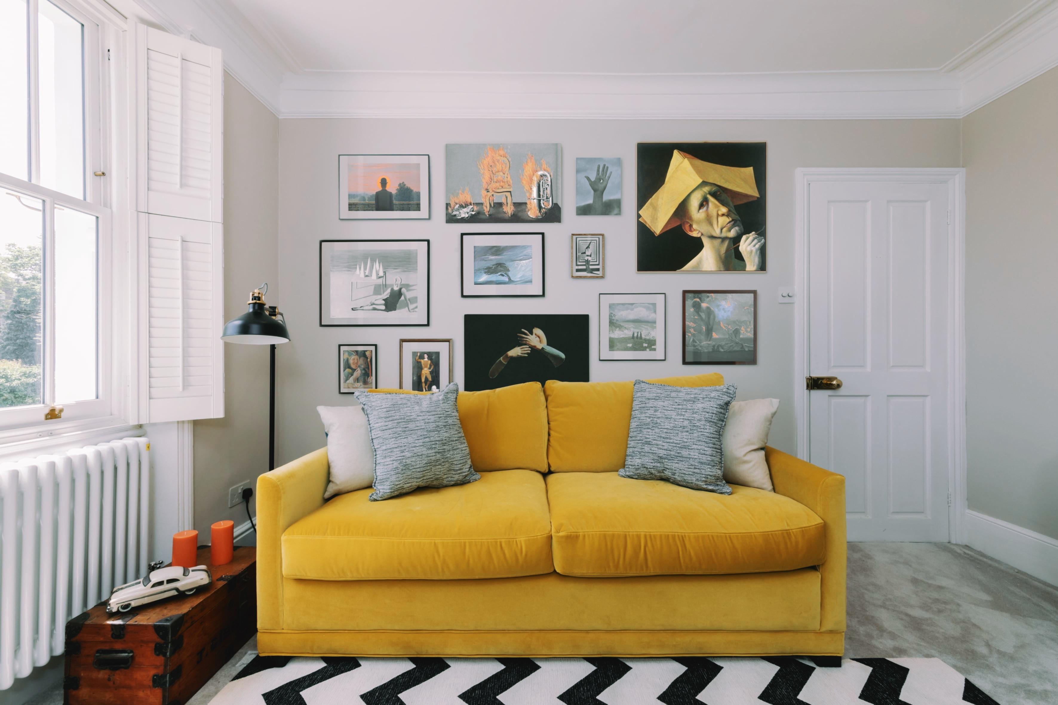 Interior Designer Surrey Yellow Sofa
